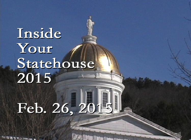 Inside Your Statehouse 2015 Feb. 26, 2015  Speaker Shap Smith, Rep. David Deen and Rep. Kate Webb discuss Vermont waterways, rivers and lakes issues. View at https://vimeopro.com/vtvt/insideyourstatehouse2015/video/120747311