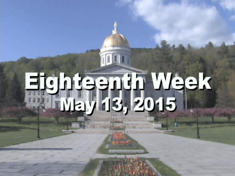 Under The Golden Dome 2015 Week 18  Eighteenth week of the 2015 Vermont legislative session May 13, 2015. State House Info � Vermont State Coat of Arms Painting by Charles Louis Heyde. Interview segments with Rep. Warren Kitzmiller, Rep. Topper McFaun, Rep. Brian Savage, Sen. Alice Nitka, Rep. Don Turner, Sen. David Zuckerman, Rep. Carolyn Branagan View at https://vimeopro.com/vtvt/underthegoldendome2015/video/127791533