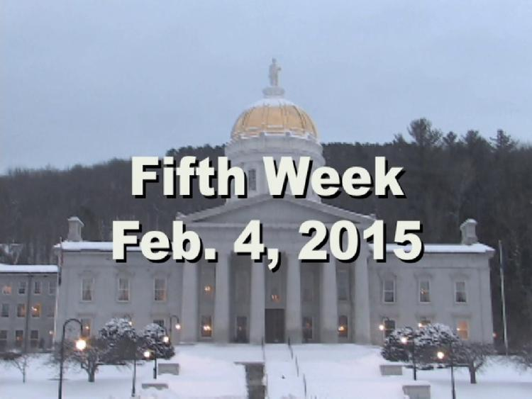 Under The Golden Dome 2015 Week 5  Fifth week of the 2015 Vermont legislative session Feb. 4, 2015. State House Info � Rep. Mollie Burke Art Exhibit. Interview segments with Vermont Governor Peter Shumlin, Rep. Larry Fiske, Rep. Larry Cupoli, Rep. Kurt Wright, Sen. Alice Nitka, Sen. John Rodgers, Rep. Curt McCormack. View at https://vimeopro.com/vtvt/underthegoldendome2015/video/118774026